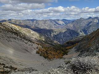 Colorful larches north of Lost