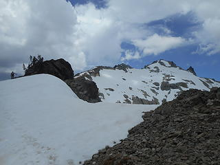 lingering snow on the ridge