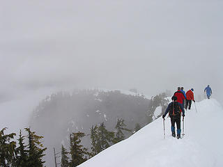 Descending Little Bulger (Point 5111':)