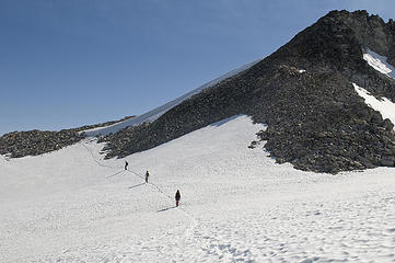 Almost to the summit of Mount Hinman