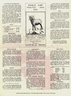 Eagle Cap Recreation Guide No. 25