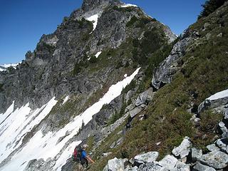steep heather trekking