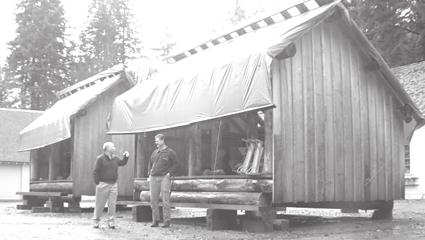 """""""[i:c30e71dfdd]Paul Gleeson, Cultural Resource chief, and park carpenter Jim Wesley with the 'historic' prefabricated shelters. OPA, PEER, and Wilderness Watch assert that these new structures do not belong in Olympic Wilderness. Photograph by Seabury Blair, Jr.[/i:c30e71dfdd] <a href=""""http://www.olympicparkassociates.org/PDF/opa-news-v12n2.pdf"""" target=""""_blank"""">www.olympicparkassociates.org/PDF/opa-news-v12n2.pdf</a>"""""""