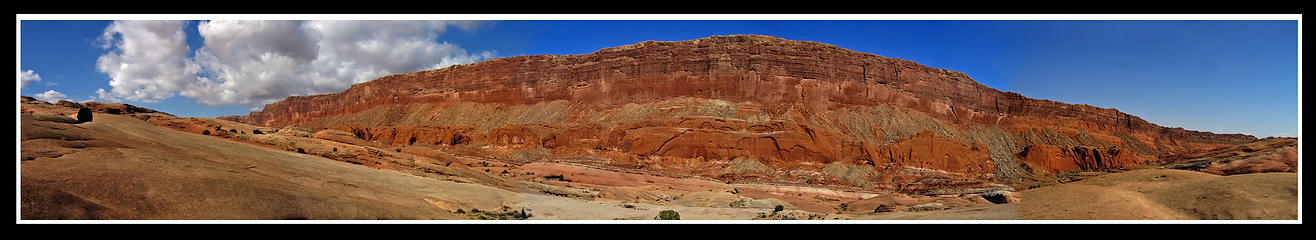 Panoramic view upon exiting the 4 mile long narrows