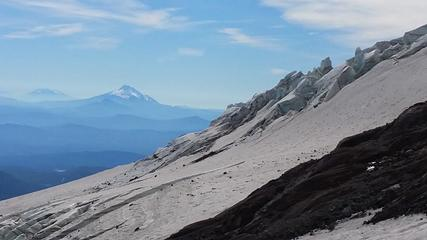 Looking south across the Newton Glacier (?) to Mt. Jefferson and North Sister beyond