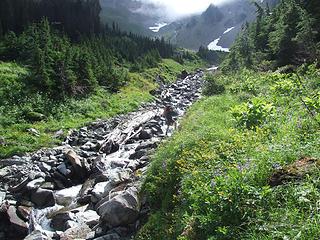 son crossing White Creek
