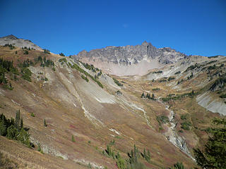 Looking back at Cispus Basin