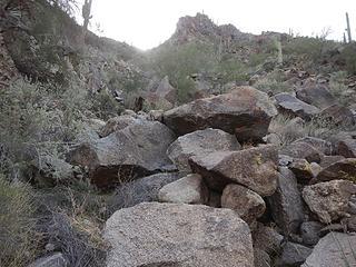 steep gully