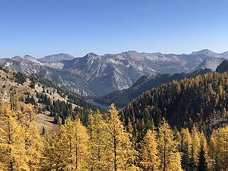 Looking east from Indianhead Pass towards Bigelow - Surprise Lake below in foreground