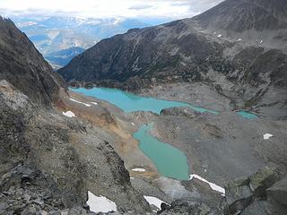 Wedgemount Lakes below