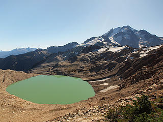 Former Milk Lake Glacier and Glacier Peak