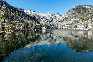 lower canyon creek lake, wedding cake and thompson peak beyond