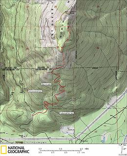 North Mountain Trip Map