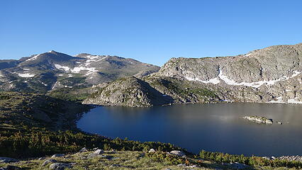 Ascending above Tayo Lake