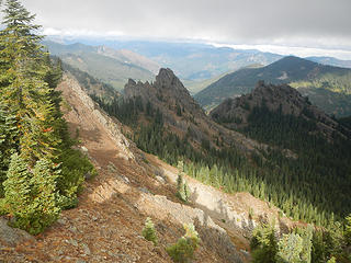 French Tongue and Cheek seen from Kachess summit