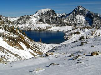 Upper Ice Lake & Spectacle Buttes