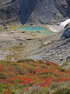 Fall Color and Glacial Tarn Below Fire Creek Pass