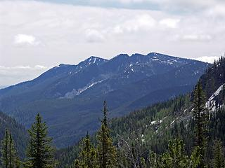 Tyee Ridge with highpoints and Tyee and Signal mountains
