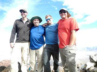 the finishers; Craig Barlow, John Ray, Craig Jagow, and Mark McCormick