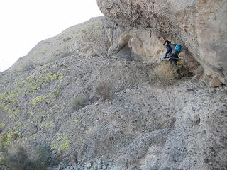start of zigzag ledges