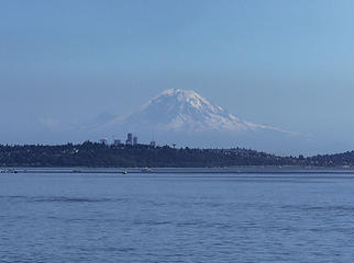Rainier on the ferry ride back