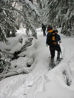 Snowshoes On
