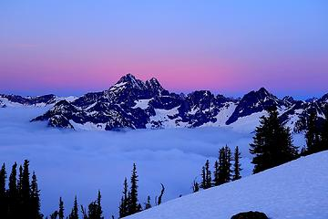 Black Peak above the clouds