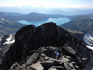 overlooking the west peak