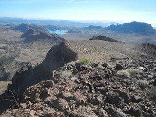Copper Basin Reservoir and Monument Peak