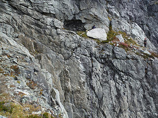 """Philip across the chasm on the """"ledge route"""""""