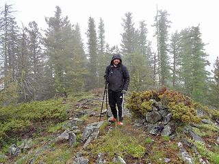 On White Mtn just below The Canadian Border. Another P2k. Snow and rain but it was a short hike.
