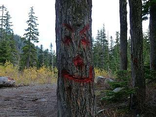 Demonic Happy Face at Swan Lake