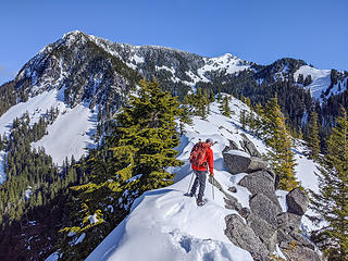 Traversing Coincidence Ridge. North and Main Web Peak in background