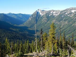 Goat Mountain across the valley