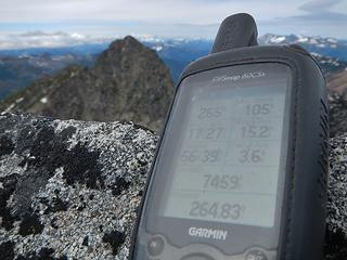 GPS south peak elevation