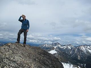 Jake on the summit of Cutthroat