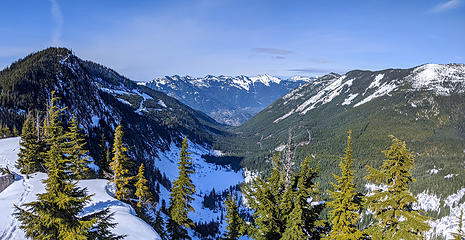 View down Granite Creek valley from Coincidence Ridge