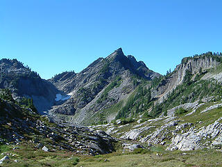 North Peak as seen from Gothic Basin.