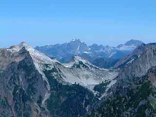 View to the N as seen from the summit of Gothic Peak.