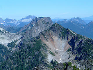Wht. Horse, Big 4, Sperry,& Morning Star as seen from the summit of Gothic Peak.
