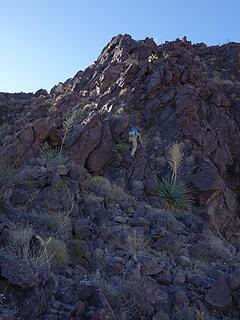 N Ridge of western peak