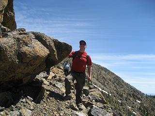 Mark Pondering the Essence of Rocks