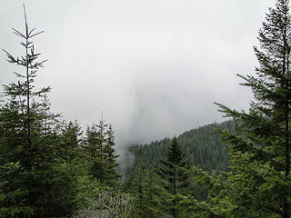 View from stairs area on West Tiger 3 trail.