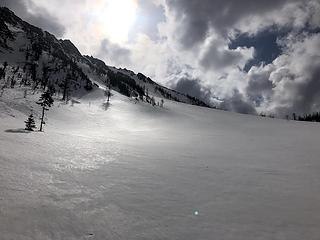 Exit apron from NW Couloir of N Gardner