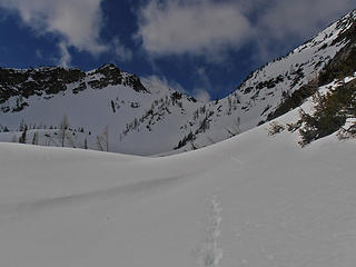 Into the second basin. Knee pain almost turned me back here