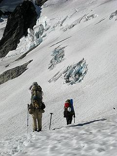 Onto the glacier