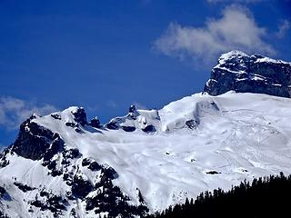 Fresh avalanches on Sloan Peak
